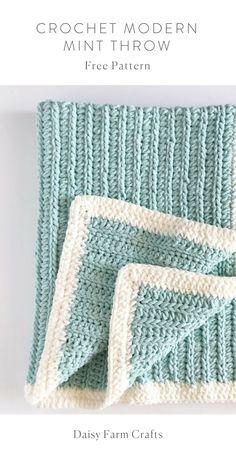 Free Pattern - Crochet Modern Mint Throw