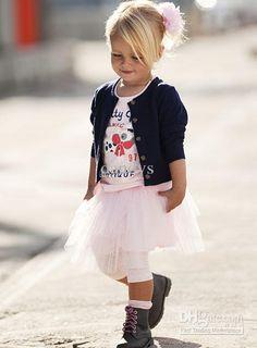 outono meninas t-shirt + jaqueta + saia de 3 peças terno