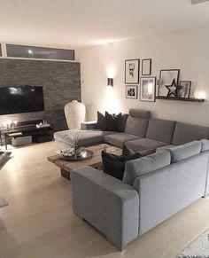 Bedroom Interior, Apartment Living Room, Apartment Decor, Home Design Decor, Living Room Decor Modern, Living Room Decor Cozy, Living Room Decor Gray, Home And Living, Rugs In Living Room