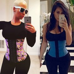 Just Like Kim Kardashian, Amber Rose Has Been Waist Training! One More Thing She & Kim Have In Common...
