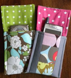 Cell phone/iPod pouch.  Think I'll try adding a strap and some velcro to close it.