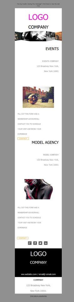 Fíjate en lo bien que se ven los modelos de la agencia en la versión responsive de la plantilla newsletter.