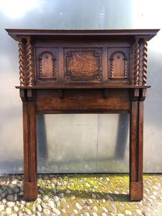 REDUCED 78c  Edwardian Antique Fireplace Oak Fire Surround DELIVERY £25 Max