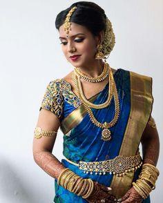 The Indian Bride - Professional Bridal Makeup & Hair Artist,Singapore Indian Bridal Sarees, Indian Bridal Wear, South Indian Bride Saree, Bride Indian, Pattu Saree Blouse Designs, Bridal Blouse Designs, Tamil Wedding, Saree Wedding, Hindu Bride