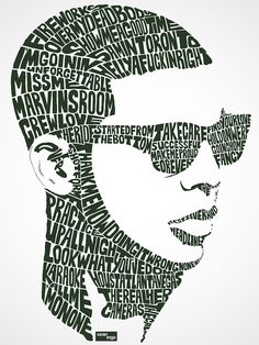 Amazing Typography Portraits Created with Song Lyrics - My Modern Metropolis
