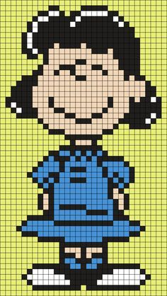 Lucy From Snoopy And The Peanuts Gang Perler Bead Pattern / Bead Sprite