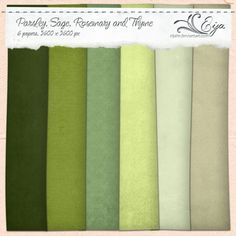 Parsley, Sage, Rosemary and Thyme paper pack by Eijaite.deviantart.com on @deviantART