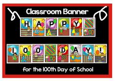I am amazed that we are 100 days into the school year! Next Friday, we are celebrating our special day. Classroom Banner, School Classroom, Hundred Days, Groundhog Day, 100 Days Of School, 100th Day, Math Games, Special Day, Board Games