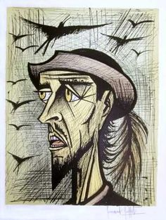 Bernard Buffet, don quixote with hat -1989 on ArtStack #bernard-buffet #art