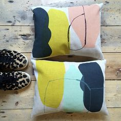 Image of 'Gather' Small Abstract Cushion