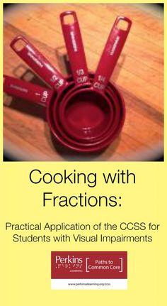 Apply the CCSS to functional situations with students who are visually impaired w/ this cooking activity! Culinary Classes, Cooking Classes, Fun Math, Math Activities, Learning For Life, Career Exploration, Math Groups, Baking With Kids, Basic Math