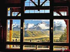 What dreams are made of. // #mountains #window #house #colorado #realestate Zillow 678 Catamont Dr, Ridgway, CO 81432