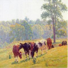 """Stretched Classical Paintings Reproduction African Animal Cow, Size: 40"""" x 30"""", $164. Url: http://www.oilpaintingshops.com/stretched-classical-paintings-reproduction-african-animal-cow-2860.html"""