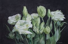 Browse through images in Jan Lawnikanis' Flower Paintings collection. Painting flowers is my passion! Here is a selection of floral paintings in various mediums. New Artists, Great Artists, Buy Art Online, The Gathering, Paintings For Sale, Artist Art, Watercolour Painting, Cool Artwork, Online Art Gallery