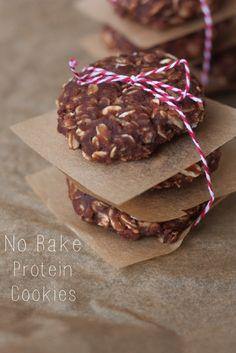 Chocolate Peanut Butter Protein No Bake Cookies (vegan & gluten-free)