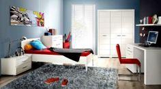 Aranżacja pokoju nastolatka, geometryczne meble Home Interior Design, Interior Decorating, Beautiful Interiors, Kids Bedroom, Bedroom Ideas, Corner Desk, Toddler Bed, Kids Rugs, Couch
