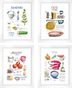 illustrated recipes by Felicita Sala // Little White Whale