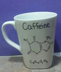 DIY mug with sharpies! Draw whatever you want with sharpest then bake at 350° for 30 min would be fun to give to a science teacher