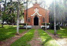 Chapel at Campo Cemetery(Cemiterio dos Americanos) at Santa Barbara D'Este/Americano, Brazil