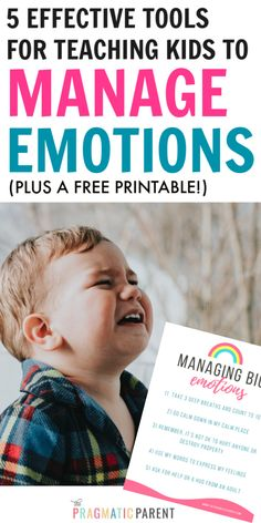 How parents can help kids learn to identify and manage big emotions. 5 Steps to teach children how to manage big emotions and deal with feelings. # step Parenting Teach Kids to Manage Emotions Foster Parenting, Gentle Parenting, Parenting Advice, Kids And Parenting, Autism Parenting, Behavior Management Strategies, Positive Parenting Solutions, Emotional Child, Positive Discipline