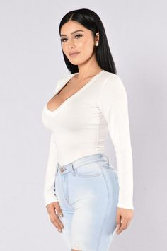 105e59513b08 Voted Most Popular Bodysuit - White. Curve JeansJanet GuzmanHot OutfitsJean  OutfitsRompers ...