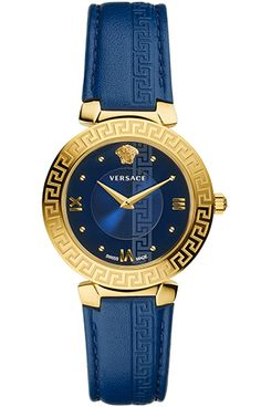 Check out new Versace glamorous line of Women's fashion Watches. Enjoy your time with a luxury watch, available on the Versace Official Website. Trendy Watches, Gold Watches Women, Watches For Men, Versace Blue, Stainless Steel Bracelet, Luxury Jewelry, Fashion Watches, Bracelet Watch, Jewelry Watches