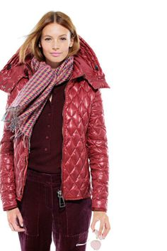 J.Crew Authier® quilted jacket & Collection cashmere sweater.