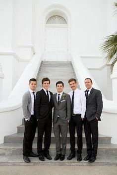 We'll have a coordinating (not matching) set of groomsmen-- they'll probably wear neutral colors so it would be great to give them some color with boutonnieres