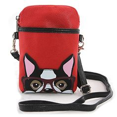 WonderMolly Sleepyville Critters - Boston Terrier Small Pouch Shoulder Bag in Vinyl Material