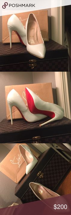 😍 make me an offer 😍 Worn once perfect condition good quality answer to everyone's question it's not authentic heels 140cm 😍😍 Shoes