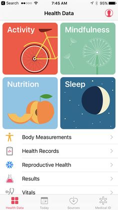 #Apple new IOS  HEALTHApple's Health app also looks a bit different, but functions much the same as it used to.
