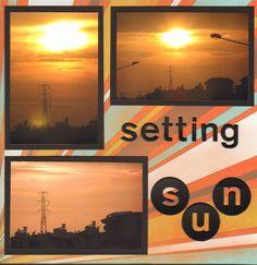 Sunset scrapbooking page