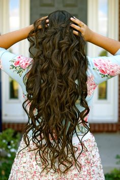 Lovely Curly Long Hairstyles-want this for my wedding