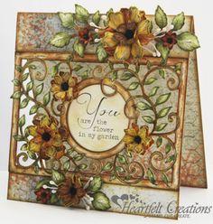 Heartfelt Creations | Vintage Floret Frame Card