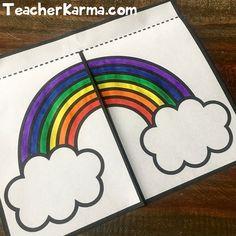 by Teacher Karma Kindergarten Colors, Kindergarten Science, Hands On Activities, Book Activities, Creative Teaching, Teaching Ideas, Teaching Resources, Flip Book Template, Rainbow Writing