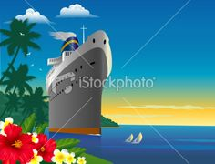 Tropical Cruise Royalty Free Stock Vector Art Illustration