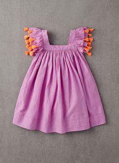Nellystella Chloe Dress in Orchid Bouquet Swissdot - N15S000-OS