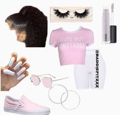 Witch pink fit ☺️💁🏽♀️ Source by kaneshial Fashion outfits Swag Outfits For Girls, Boujee Outfits, Cute Lazy Outfits, Cute Swag Outfits, Teenage Girl Outfits, Cute Outfits For School, Teen Fashion Outfits, Girly Outfits, Pretty Outfits