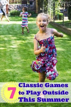 7 Classic Games to Play Outside this Summer- Summer calls for simple, old fashion fun. Need an idea for a party or to keep kids busy this summer? Head outdoors and enjoy these classic games for kids with family and friends!