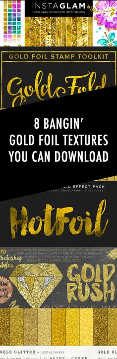 Gold Foil Textures / Backgrounds You Can Download