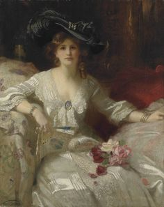 Francis Owen Salisbury (1874 - 1962) - The fair Lady, the bridal dress