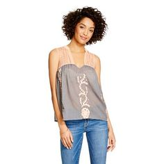Women's Woven Embroidered Tank - inLUV