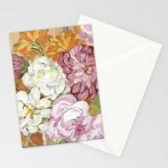 Bohemian Bouquet Stationery Cards by Edith Jackson-Designs | Society6