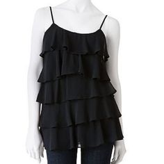 Candies Ruffled Layered Tank Super soft and cute tank top by Candies! Good condition. Some marks under armpits.  Candie's Tops Tank Tops