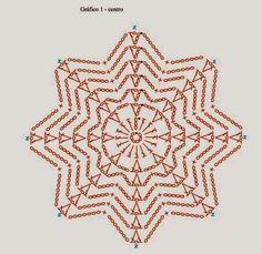 beautiful, beautiful, christmas center in crochet. View and share - Crochet Designs Free Crochet Snowflake Pattern, Crochet Stars, Crochet Circles, Crochet Snowflakes, Crochet Granny, Crochet Motif, Irish Crochet, Crochet Doilies, Crochet Flowers