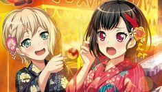 Ran Mitake & Moca Aoba (Afterglow) Pretty Anime Girl, Kawaii Anime Girl, Anime Oc, All Anime, Chipmunks Movie, Dream Anime, Anime Friendship, Samurai, I Love Games