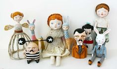 Beautiful hand crafted toys / art of Flor Panichelli. Thanks for the heads up Pauline :-) Enchanting!