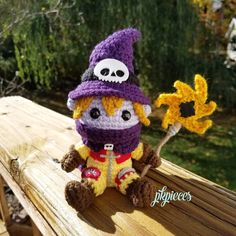 so happy I was able to finish my Wizardmon in time for halloween!! #wizardmon #wizardmoncrochet #pkpieces #halloween #digimon #digimonadventure