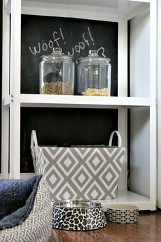 Keep your pet supplies organized and within reach with a pet station.