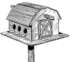 free printable birdhouse plans   Level, 8-Room Free Purple Martin ...